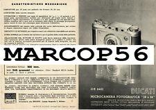 PDF Depliant - DUCATI SOGNO Microcamera 18x24 Caratteristiche Principali Anni 40