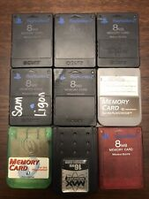 PlayStation 2 Memory Card 8 MB - Some OE, Some 3rd Party Bundle / Lot Of 9