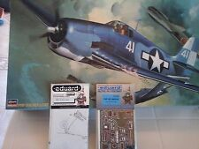 F6F-3/5 HELLCAT US NAVY 1/32 SCALE HASEGAWA MODEL+N.2 PHOTOETCHED PARTS EDUARD