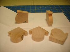 5 NEW ROBIN'S NEST  2''H X 2 1/4''L X 1/2''W UNFINISHED WOOD (CO7250)
