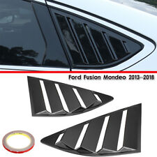 Black Quarter Louver Cover Vent Side Window For Ford Fusion Mondeo