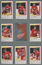 1991-92 Panini Stickers Detroit Red Wings Complete Team Set (16)