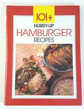 Hurry-Up Hamburger Recipes (1990, Hardcover) Vintage Cook Book
