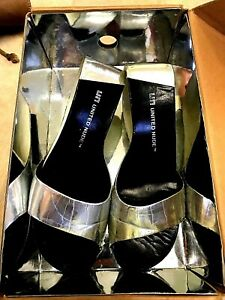United Nude Mobius Hi Shoes Black Wedges silver 38 with box