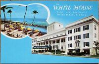 Miami Beach, FL 1960s Chrome Postcard: White House Hotel & Apartments - Florida