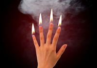 G010 Stage Magic Flames At Fingertips On Fire Hot Finger Mysterious Fire Trick