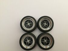 "1/18 scale Modified Tuning REAL ALUMINIUM FORD RS 15"" WHEELS (BLACK & SILVER)"