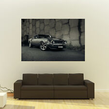 Poster of Ford 1969 Mustang Giant HD Huge 54x36 Inch Print 137x91 cm