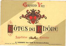 Etiquette de vin - COTE DU RHONE