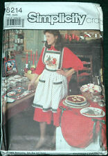 Simplicity 8214 Holiday Entertainment Apron Etc Pattern