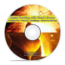 Metal Work, Metal Form, Forge, Foundry, Metallurgy, Furnace, 210 Books DVD V67