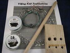 Viking Knit Bracelet Kit & Instructions, Green Wire #2