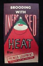 Poultry Brooding with Infra Red Heat Light Fixtures Advertising Pamphlet 1951