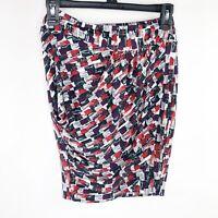 GUESS New $69 XS Oki Draped Mini Skirt Lipstick Love Jet Black Red