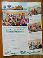 1941 Pullman Railroad Ad  City of Miami Streamliner for the Illinois Central