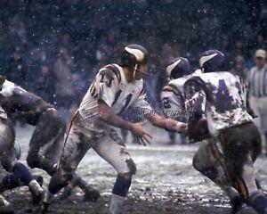 NFL 1960's Minnesota Vikings QB Joe Kapp Game Action Color 8 X 10 Photo Picture