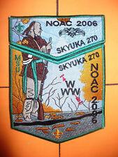 OA Skyuka Lodge 270,2006 NOAC,Indian W/ Rifle 2 Part Set,GRN,Palmetto Council,SC