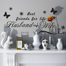 Best Friends for Life Husband Wife Wall Decal Vinyl Quotes Sticker Art Decal
