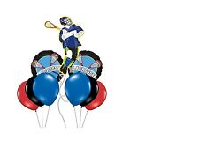 9pc LACROSSE party BALLOONS any occasion BIRTHDAY favor TEAM rally AWARDS dinner