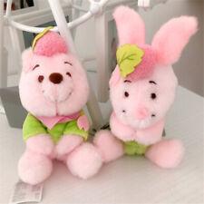 Set Japan Disney Winnie the Pooh Pooh Bear Piglet SAKURA Pink Plush Doll keyring