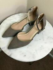Womens Size 6 TAUPE Microsuede Pointed Toe Block Heel Pumps Natalia A New Day