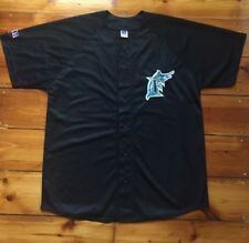 58a493652 MLB FLORIDA MARLINS SIZE L LARGE RUSSELL ATHLETIC BASEBALL JERSEY TOP usa  rap