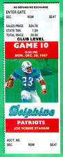12/28/87 DOLPHINS VS. PATRIOTS FULL TICKET-DAN MARINO/STEVE GROGAN