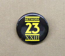 "Max Headroom NETWORK 23 Logo Button 1.25"" Badge Pinback Cult Sci-Fi TV Show"