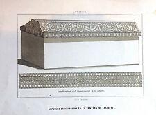 ASTURIAS, OVIEDO , SEPULCRO. litografía original, 1860