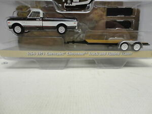 Greenlight 1971 CHEVY CHEYENNE Black Pickup with TRAILER Hitch & Tow Series 1