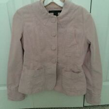 MARC JACOBS Soft Pink Corduroy Cotton Casual Jean Jacket Blazer Women's SMALL