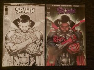SPAWN #311 - COLOUR AND B&W TRIBUTE VARIANT COVERS - IMAGE COMICS VF/NM