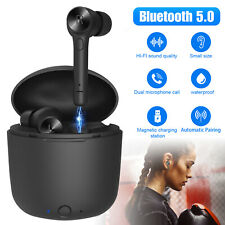 Bluetooth 5.0 Headset Wireless Headphone Earbud Earphone For iPhone Samsung