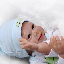 "22"" Handmade Lifelike Happy Baby Boy Girl Silicone Vinyl Reborn Newborn Dolls"
