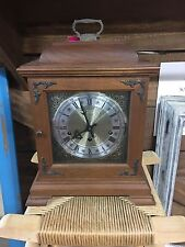 Vintage Wooden Case Hamilton Westminster Chime Carriage Shelf Mantle Clock