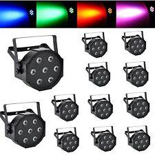 12PCS 7x12W American DJ Wedding Party LED Par 64 Can DMX RGBW Stage Uplighting