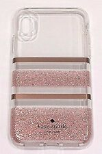 Kate Spade New York Flexible Hardshell Case for iPhone X (10)  Rose Gold Stripe