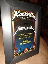 "Metallica Welcome To Rockville Daytona Beach Florida Promo Card 4""x 6"" Framed"