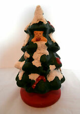 "8 1/2"" Vintage Porcelain Christmas Tea Light Tree- ""Gift Collection"""