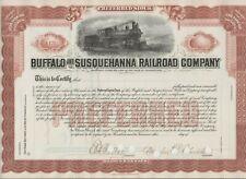 Buffalo & Susquehanna Railroad Company Stock Certificate Pennsylvania