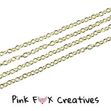 10m ROSE GOLD PLATED 3 x 2mm CLOSED CABLE NECKLACE FINDING CHAIN JEWELLERY