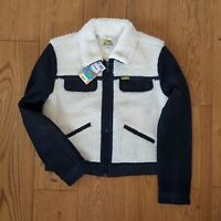 NEW WRANGLER by PETER MAX  SHERPA JACKET LINED OFF WHITE / BLACK  WOOL XS/S/M/L/