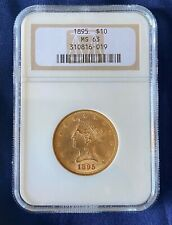 1895-P $10 Uncirculated Liberty Head Gold Eagle, NGC MS-63