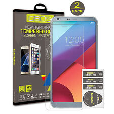 2 Pack GBOS® 100% Genuine Tempered Glass Ultra HD Screen Protector For LG G6