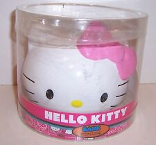 Licensed HELLO KITTY FACE & BOW Ceramic PIGGY BANK Money Holder Container NEW!