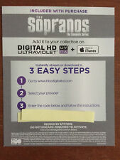 The Sopranos Complete Series Digital HD Code ONLY