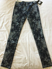 Members Only Indigo Silver SM5281 Compression Leggings Skinny Jeans Women's S