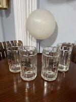4 Beer Glass Mugs Stein Dinkel Acker Austria
