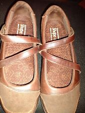 Skechers Shape Ups Brown Mary Jane Style Shoes Size 8.5 Walking Exercise