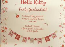 NEW Meri Meri Hello Kitty Daisy Party Garland Kit 7 Pennants 8 Daisies and Cord